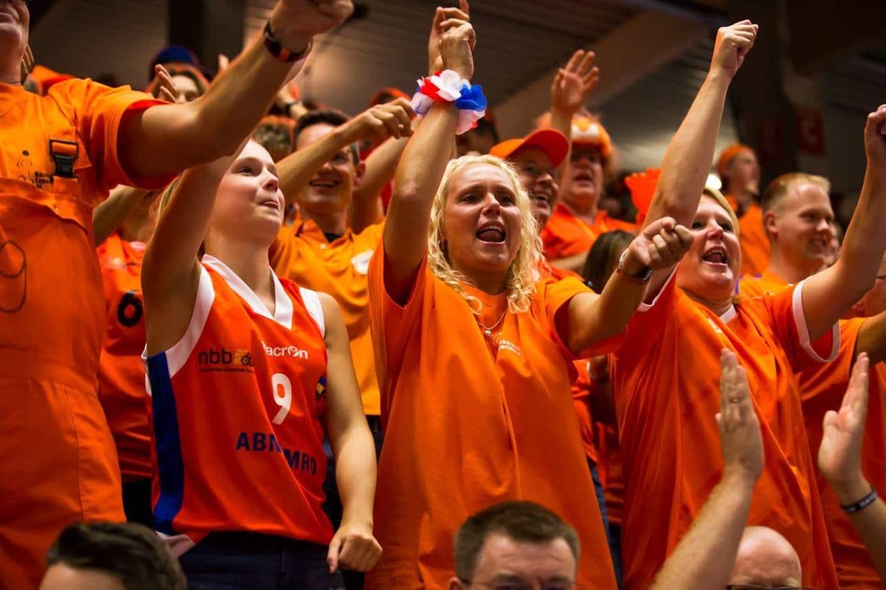Supporters tijdens WK Hamburg